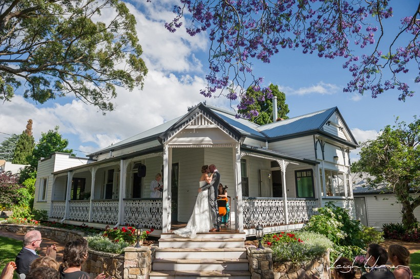 The First Kiss at a Toowoomba Wedding