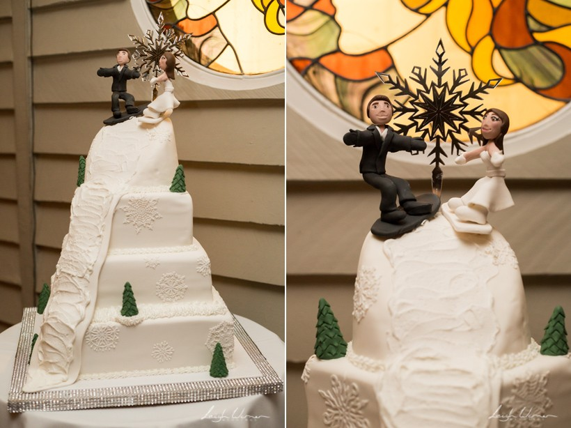 Snowboard Wedding Cake
